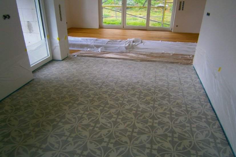 Zementfliesen Via restaurierung und sanierung via platten schleifen polieren